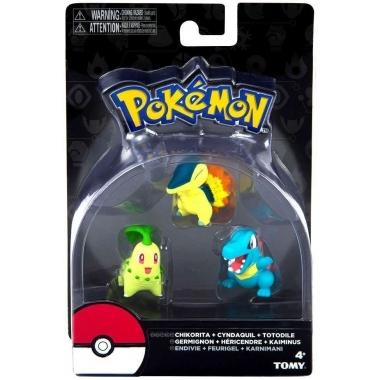 Pokémon: Chikorita, Cyndaquil, Totodile 5 cm