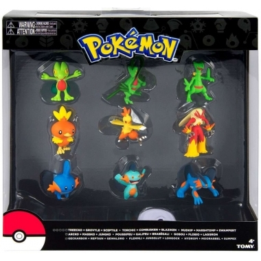 Pokemon Evolution: Treecko, Torchic & Mudkip, set 9 minifigurine