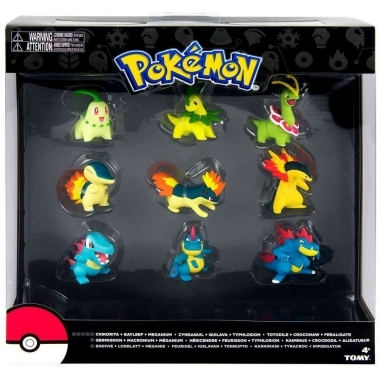 Pokemon Evolution Chikorita, Cyndaquil & Totodile, Set 9 figurine