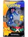 Pokemon, Ash Greninja, Hawlucha, Pikachu, Set 3 figurine articulate