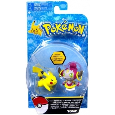Pokemon, Hoopa vs Pikachu, set minifigurine 6 cm