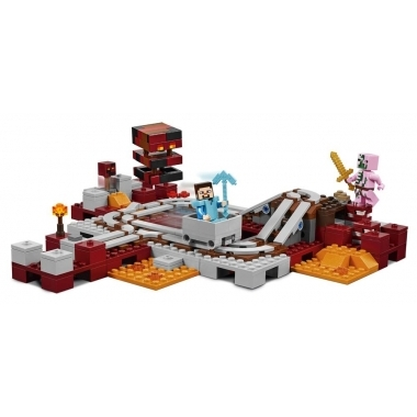 LEGO Minecraft The Nether Railway (Calea Ferata Nether) 387 piese