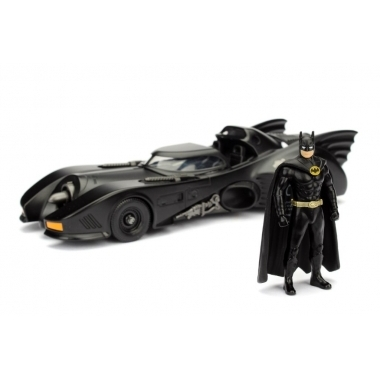 Batman Diecast Model 1/24 1989 Batmobile with figure