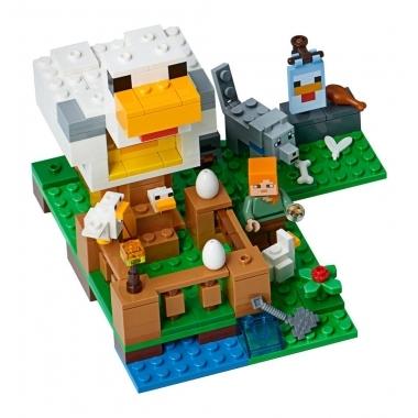Minecraft, Lego Ferma de Pui 195 piese