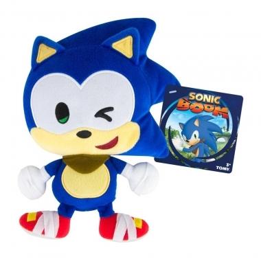 Sonic Boom, Jucarie de Plus Emoji Winking Sonic, 20 cm