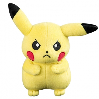 Pokemon, Pikachu (incruntat)  Jucarie Plus 20 cm