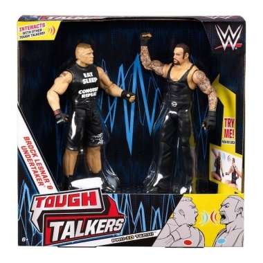 WWE Tough Talkers Figurina  rock Lesnar & Undertaker  15 cm