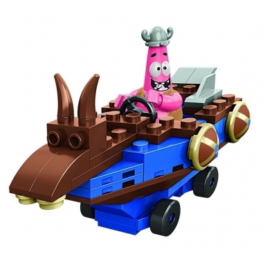 SpongeBob Mega Bloks Construction Set Patrick Racer