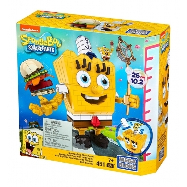 SpongeBob Mega Bloks Construction Set SpongeBob