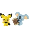 Pokemon, Set 2 figurine Komala vs Pichu 4-5 cm