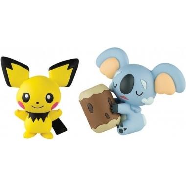 Pokemon, Set 2 figurine Komala vs Pichu 4-5 cm