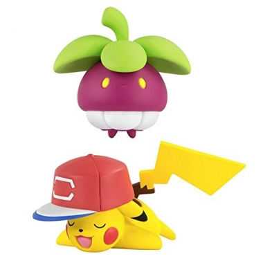 Pokemon, Set 2 figurine Pikachu vs Bounsweet 6 cm