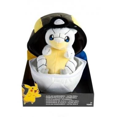 Pokemon, Plus  Alolan Sandshrew cu Ultra Ball 20 cm