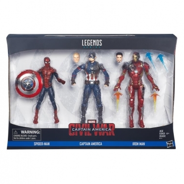 Civil War Marvel Legends Battle Damaged Set 3 figurine