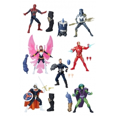 Marvel Legends, Set 7 figurine Avengers 2018 Wave 1, 15 cm