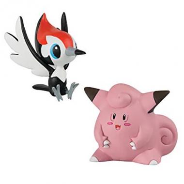 Pokemon, Set 2 figurine Pikipek vs Clefairy 3-5 cm