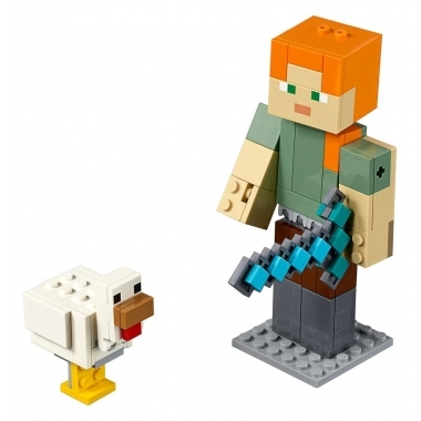 Minecraft Lego Alex with Chicken 160 piese