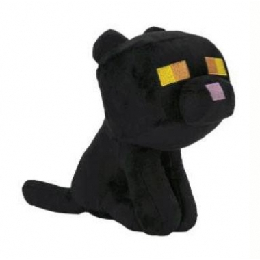 Minecraft Happy Explorer jucarie de plus Black Cat 18 cm