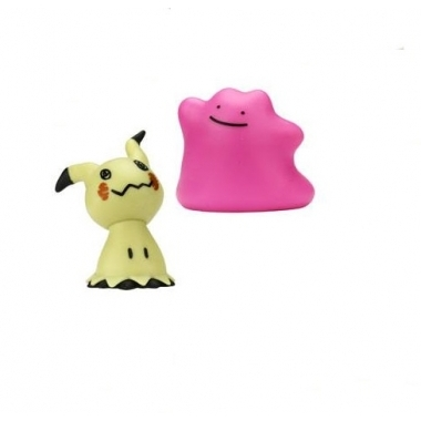 Pokemon, Set 2 figurine Mimikyu & Ditto, 5 cm