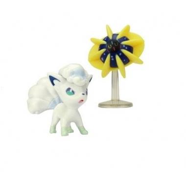 Pokemon, Set 2 figurine Cosmoem & Alolan Vulpix, 5 cm