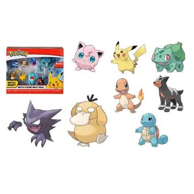 Pokemon, set 8 minifigurine 5-7 cm (August)