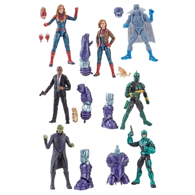 Set 7 figurine Marvel Legends Captain Marvel 2019 (BAF Kree Sentry) 15 cm