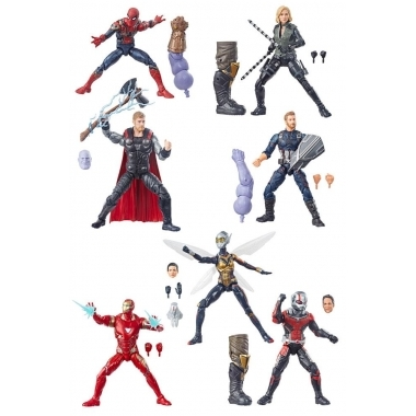 Set 7 figurine Marvel Legends Best Of Avengers 2019. 15 cm (Thanos BAF)