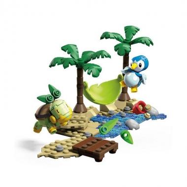 Pokemon Mega Set Constructie Set Piplup vs. Turtwig 120 piese