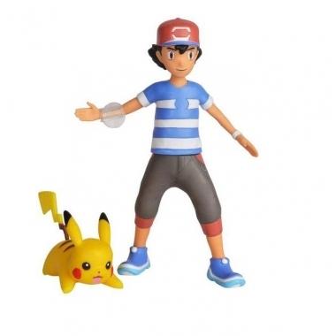 Pokemon, figurine Ash & Pikachu 11 cm
