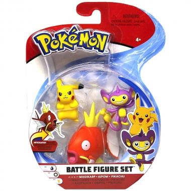 Pokemon, Pikachu, Aipom & Magikarp 5-7 cm