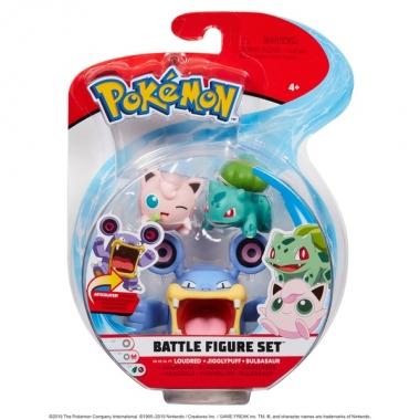 Pokemon,  Jigglypuff, Bulbasaur & Loudred 5-7 cm