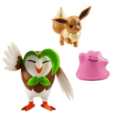 Pokemon, Dartrix, Eevee & Ditto 5-7 cm