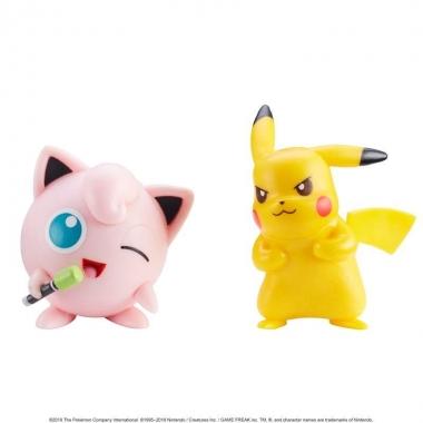 Pokemon, Jigglypuff & Squirtle minifigurine 3-5 cm