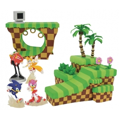 Sonic the Hedgehog Playset Dioramas Green Hill Zone, Sonic & Amy