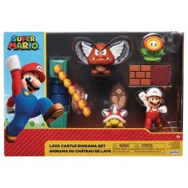World of Nintendo Super Mario Diorama Set Lava Castle