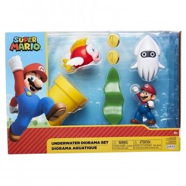 World of Nintendo Super Mario Diorama Set Underwater