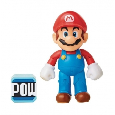 World of Nintendo Chibi Mario with Brick 10 cm