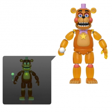 Five Nights at Freddy's Pizza Simulator Figurina Rockstar Freddy (Translucent) 13 cm