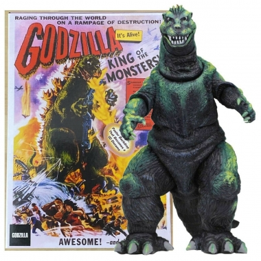 Godzilla Head to Tail Figurina 1956 Godzilla US Movie Poster Version 30 cm