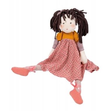 Balerina Prunelle, papusa din material textil Moulin Roty, 45 cm