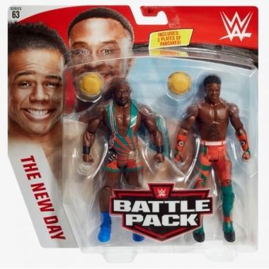 Big E & Xavier Woods (New Day), WWE Battle Packs 63, 17 cm