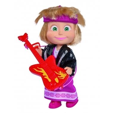 Papusica Masha cu chitara rock 12 cm