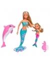 Papusi Steffi Love si Evi sirene, cu delfin 29 cm
