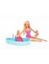 Papusa Steffi Love cu piscina si doi copilasi 29 cm