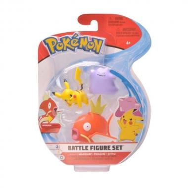 Pokémon Pikachu, Ditto & Magikarp Set 3 minifigurine 5-7 cm