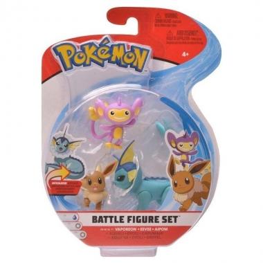 Pokémon Mareep, Eevee & Vaporeon Set 3 minifigurine 5-7 cm