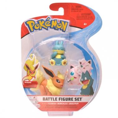 Pokémon Togedemaru, Munchlax & Flareon Set 3 minifigurine 5-7 cm