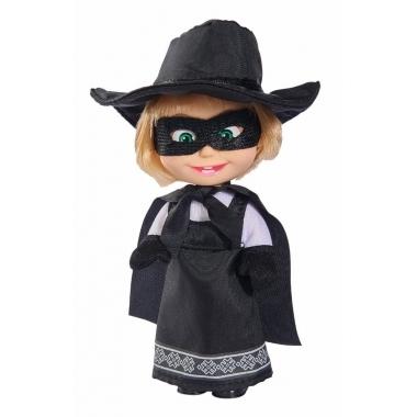 Papusica Masha star de cinema cu costum Zorro 12 cm