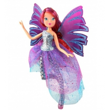 Papusa Bloom, Winx Club - Sirenix Magic, 28 cm