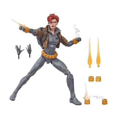 Marvel Legends Series Action Figure Black Widow Grey Suit 15 cm